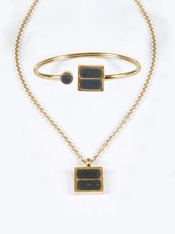 Gold Lava Stone Set
