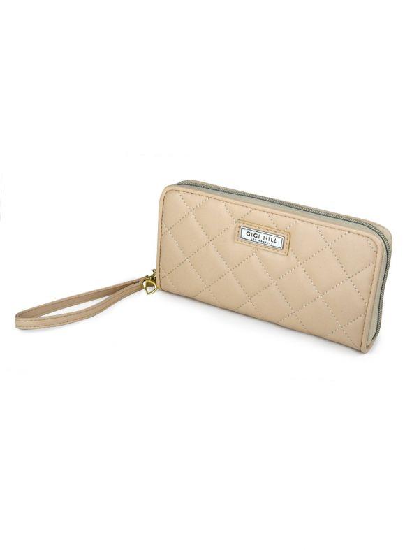 Rita Quilted Tan Wallet