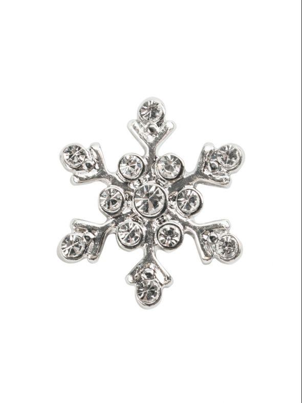 Large Crystal Snowflake Charm